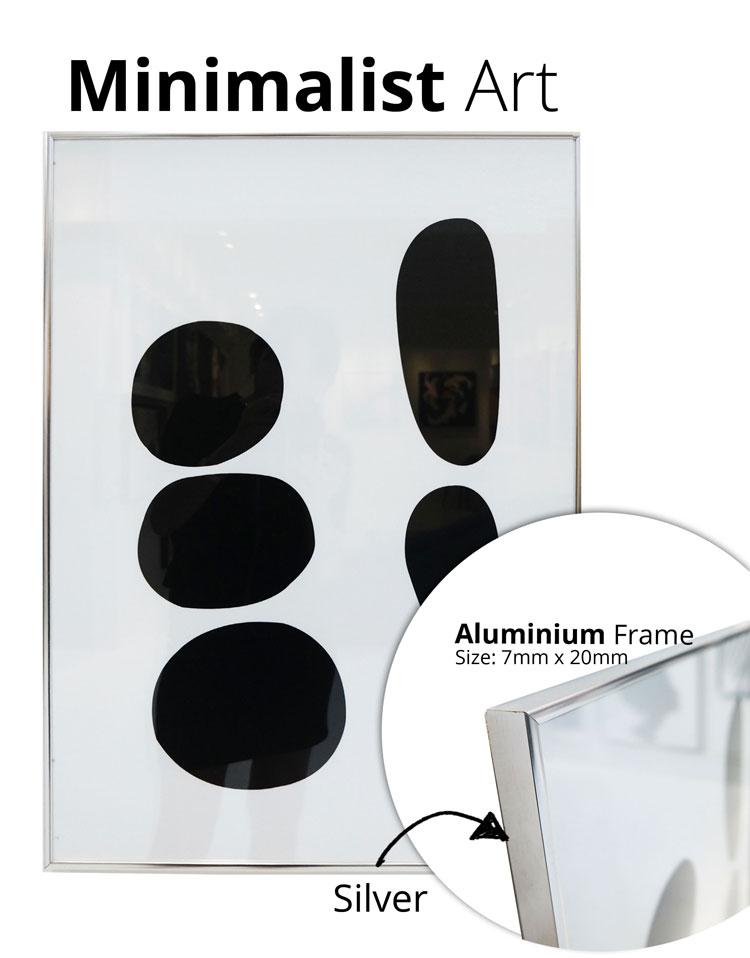minimalistframesilver